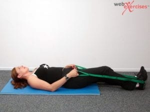 Supine Hamstring Stretch start