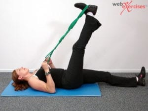 Supine Hamstring Stretch movement